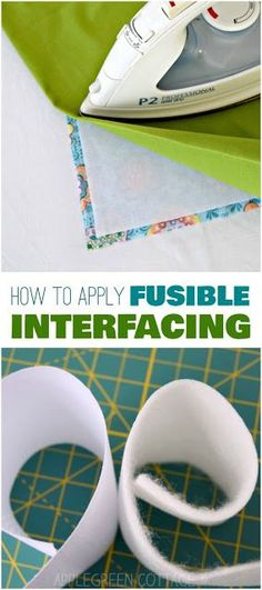 how to use interfacing: beginner sewing tips by AppleGreen Cottage #sewingtips #sewing #diy #crafts #beginnertutorials #howto