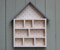 Handmade Wooden Display House storage by JubiliqueAndLouise