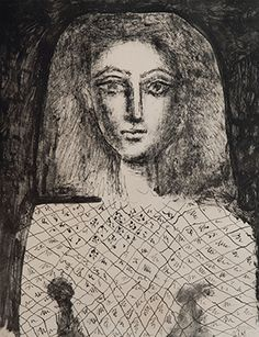 Pablo Picasso's lithograph Le Corsage à Carreaux, Estimate… Pablo Picasso, Kunst Picasso, Art Picasso, Picasso Drawing, Picasso Paintings, Trinidad, Picasso Prints, Cubist Movement, Illustrations