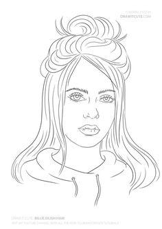Billie Eilish hair #billieeilish #billieeilishfanart #billieeilishwallpaper #fanart #coloringpages