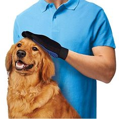 True Touch Pet Glove Five-Finger Deshedding Glove from eFizzle