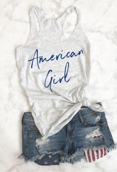 Fourth of July Shirt,  4th Of july shirt,  4th of july tank, fourth of july tank, 4th outfit, 4th of july tank, patriotic shirt, holiday shirt, american shirt, american flag shirt, red white and blue, American Girl