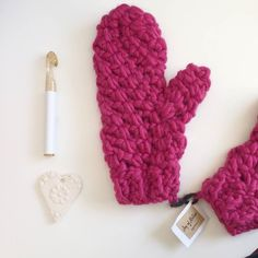 Loving these really bulky mittens!