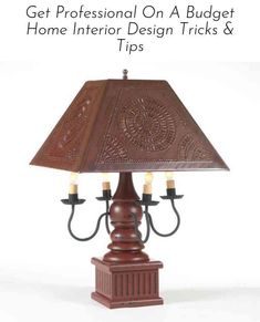 Tin Light Fixture Beautiful Wood Wrought Iron and Punched Tin Table Lamp This Stunning Country Lamps, Country Chandelier, Ceiling Fan Chandelier, Country Farmhouse Decor, Chandeliers, Light Table, Lamp Light, Primitive Lighting, Primitive Decor