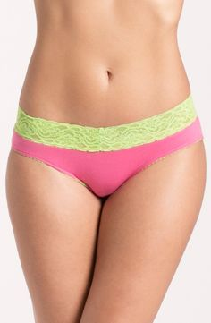 A little lace makes every day sexy.   Prettysecrets Coral Green Lacy Hipster   Price: Rs 299