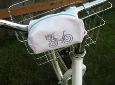 Embroider bicycle pouch