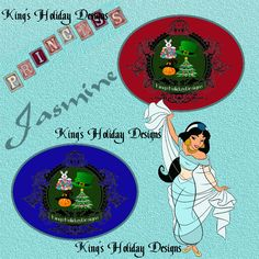 Jasmine character 8 x 8 quick page - horizontal photo opening by KingsHolidayDesign on Etsy