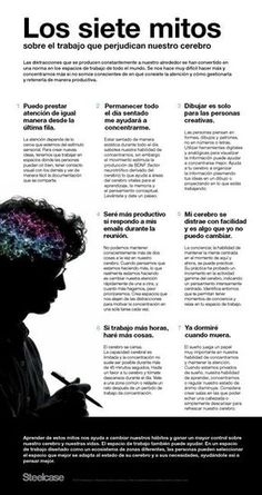 7 mitos sobre el trabajo que perjudican el cerebro #infografia #infographic #rrhh