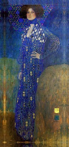 Gustav Klimt-Mixed Media Embellished Ltd Ed - Emily