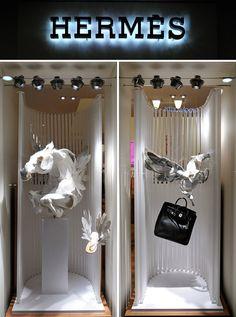 Horses in situ in Hermes windows!