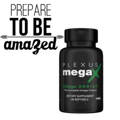 Did you know that your body doesn't create the essential fatty acids that it needs? Plexus MegaX combines the benefits of omega 3, 6, 9, 5 and 7 all in one sustainable, ALA and SDA-rich, heart and brain health softgel. It is truly the complete omega product!*  Plexus MegaX was created using AHIFLOWER® Oil, which contains the omega 3 stearidonic acid (SDA) which your body converts to EPA (the omega-3 fatty acid found in fish oil) at a rate of up to 4 times more efficiently than our other…