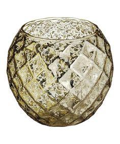 Loving this Gold 4'' Mercury Glass Candleholder on #zulily! #zulilyfinds