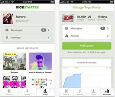KickStarter iOS App #KickStarter #iOS #Apps #Apple #iPhone
