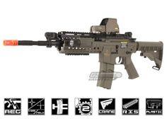 Lancer Tactical M4 S-System AEG Airsoft Gun (Dark Earth) $120