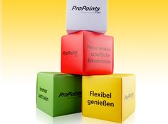 Weight Watchers Polypropylene Cubes - a creative packaging solution produced by Cedar Packaging