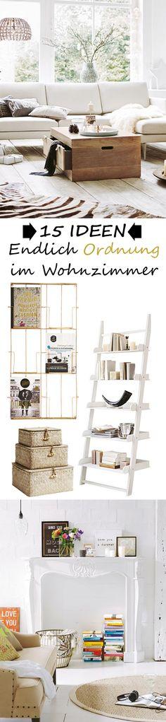 15 WOHN- und DEKO-IDEEN, die zeigen, wie du endlich Ordnung in dein Wohnzimmer bringt - und die sehen auch noch SUPER aus! MEHR >>>