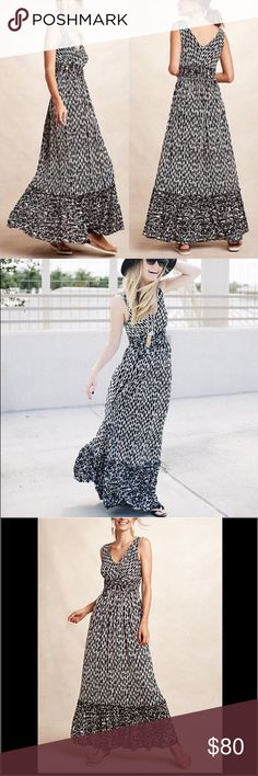 "Anthropologie Patterned Maxi Dress Seacoast Maxi Dress By Plenty By Tracy Reese Rated 5 stars!  Rayon-spandex knit Slim maxi silhouette Pullover styling Regular falls 57"" from shoulder and 14"" underarm to underarm Anthropologie Dresses Maxi"