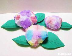 お散歩の時に見つけた、綺麗な色のあじさい。持って帰りたいけど、摘んでしまうのはちょっとかわいそう!?そんな時にもってこい!染め紙のワクワク感も味わえる製作遊び。 Spring Art, Spring Crafts, Diy And Crafts, Arts And Crafts, Paper Crafts, Diy For Kids, Crafts For Kids, Weather Lessons, Tanabata