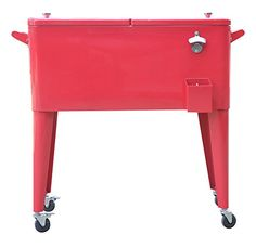 Permasteel PS 203 RED 2 Patio Cooler With Insulated Basin, 80