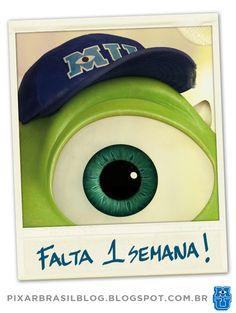 Falta 1 semana para entrarmos na Universidade Monstros! =) Pixar Brasil Blog