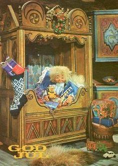 IVO CAPRINO - JULEKORT - UBRUKT (Annonse nr: 770954 - www.GiBud.no) Norwegian Christmas, Scandinavian Christmas, Merry Christmas And Happy New Year, Christmas Elf, Vintage Postcards, Elves, Troll, Norway, Auction
