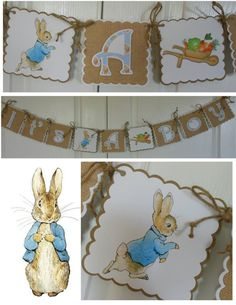 Peter Rabbit It's a Boy Baby Shower Banner by ASweetCelebration