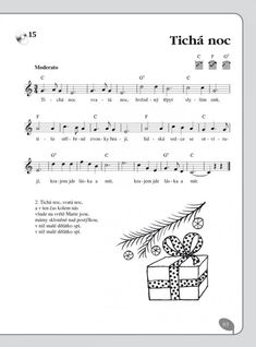 noty na flétnu koledy - Hledat Googlem Kids Songs, Christmas Music, Piano, Sheet Music, Homeschool, Language, Education, Learning, Advent