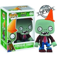 I so want this for my desk at work I love Plants vs Zombies! And the cone Zombies are the coolest. Plants Vs Zombies, Pop Vinyl Figures, Zombie Video Games, Funko Pop Dolls, Funko Toys, Plant Zombie, Pop Figurine, Funk Pop, Disney Pop