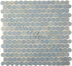 ISI  Mini Pebbles, Circles, Sea Blue, Frosted, Blue, Glass