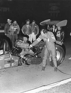 'Sidewinder' transverse engines were tried in the early days of drag racing - even the master 'Big Daddy' Don Garlits tried it.
