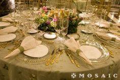 Museum Wedding Reception Rental Linens  #PartyMosaic
