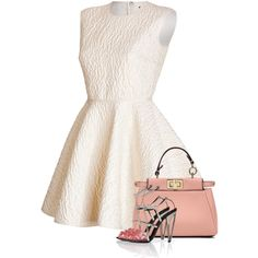 Cute Spring Dress outfit featuring Giambattista Valli and Fendi