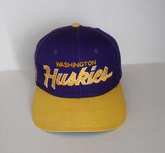 Sports Specialties Washington Huskies colorway double line script snapback (bill, snaps and inside headband replaced)