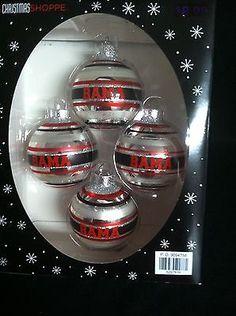 ALABAMA CRIMSON TIDE - Christmas Ornaments # 4