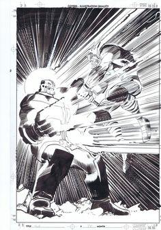 Thor by John Romita Jr. for Marvel Comics Marvel Art, Comic Art, Black And White Comics, Comic Book Pages, John Romita Jr, Drawing Sketches, Cartoons Comics, Romita, Jr Art