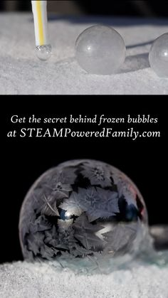 Get all the secrets to perfect Frozen Bubbles – build towers and roll them like marbles - Valentinstag Essen Stem Projects, Science Projects, Projects For Kids, Snow Activities, Winter Activities For Kids, Space Activities, Cool Science Experiments, Science For Kids, Bricole Girl