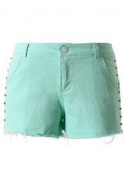 Chicwish Studded Mint Green Shorts
