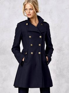 Military Lace-up CoatYour winter-weather style ammo: the military coat. Purely tactical in front, surprisingly flirty in back.