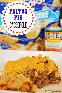 Fritos Pie Casserole - A one-dish wonder that tastes similar to taco pie and uses Fritos for extra crunch! #casserole #fritos #taco