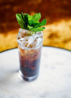 "In Italy, ammazzacaffè (meaning ""coffee killer"") is a custom that marks the transition from dolci and caffè with a small glass of amaro, to mellow ou Amaro Cocktails, Classic Cocktails, Coffee Dessert, Coffee Drinks, Tonic Water, Fresh Mint, Cold Brew, Recipe Cards, Cocktail Recipes"