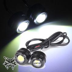 2X Luces de Águila LED para Modificación COche Moto Tuning 12V 3W Anti Nieblas Color de Luz Blanca -- 7,91€