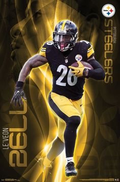 Le'Veon Bell Pittsburgh Steelers Official Nfl Football Action Wall Poster