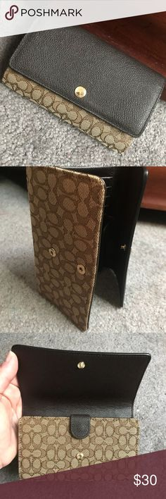 Coach Tri-fold wallet Nice. New. Never been used. Coach Bags Wallets
