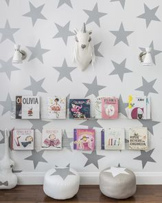 Lucky Star Wallpaper from @sissyandmarley for Jill Malek - so bold. We love the look!