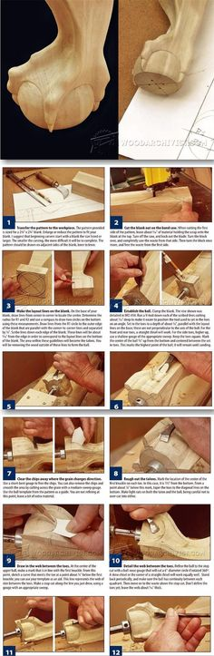 Learn how to carve custom furniture feet with this helpful guide. | Carving Ball and Claw Foot - Furniture Leg Construction | WoodArchivist.com