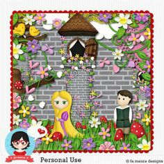 Kit - Rapunzel by Fa Maura Designer  #famauradesigner #famauradesigns #scrapdigital  http://famaura.com/shop/index.php?main_page=product_info&cPath=3&products_id=1744