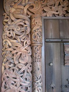 Viking Carvings by Birgit44, via Flickr(Those guys where very creative wood-carvers)