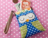 DIY Owl iPad Cover/Case Sewing Kit. Includes ALL Materials and Pattern. $25.00, via Etsy.