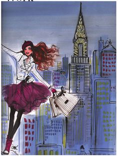 Izak Zenou: House illustrator for Henri Bendel Illustration Mode, Fashion Illustration Sketches, Fashion Sketches, Fashion Drawings, Vintage Magazine, Henri Bendel, Fashion Art, Girl Fashion, Illustrators
