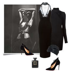 """""""Woman in black..."""" by katelyn999 ❤ liked on Polyvore featuring moda, Rick Owens, Christian Louboutin, Givenchy, Missoni, Chanel, christianlouboutin, RickOwens e missoni"""